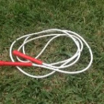 Skipping rope (red handles)