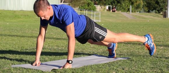 Plank w side leg lift