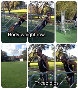 Camperdown outdoor gym exercises